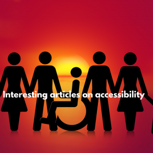 """Featured Image of article """"Interesting articles on assessbility"""""""