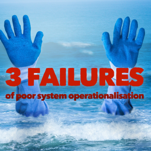 Featured image of 3 failures of poor system operationalisation article