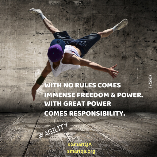 wiTH NO RULES COMES IMMENSE FREEDOM & POWER WITH GREAT POWER comes resposibility.