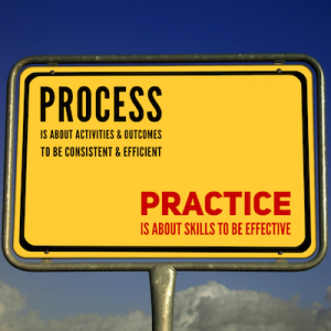 PROCESS IS about ACTIVITIES & OUTCOMES TO BE CONSISTENT & EFFICIENT PRACTICE IS ABOUT SKILLS TO BE EFFECTIVE
